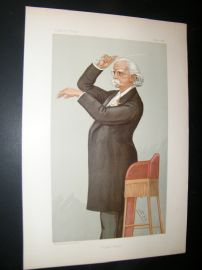 Vanity Fair Print 1895 August Friedrich Manns, Music